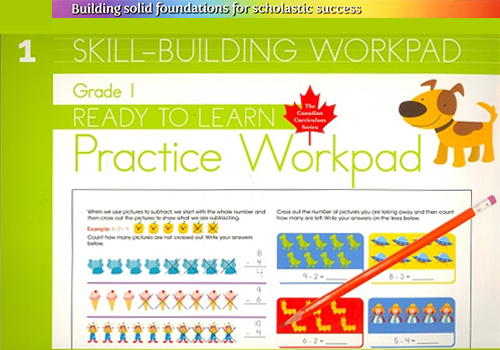 Grade 1 Skill Building Practice Workpad (Ready to Learn, Canadian Curriculum Series)