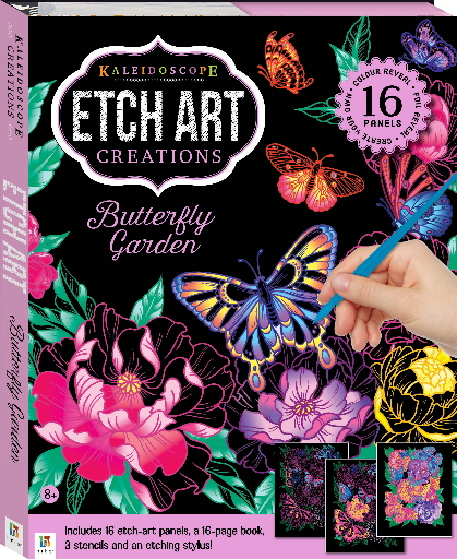 Butterfly Garden (Kaleidoscope Etch Art Creations)