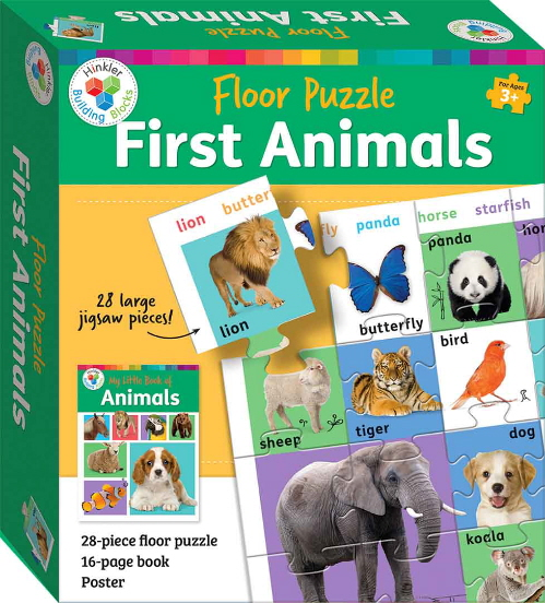 First Animals Floor Puzzle (Hinkler Building Blocks)