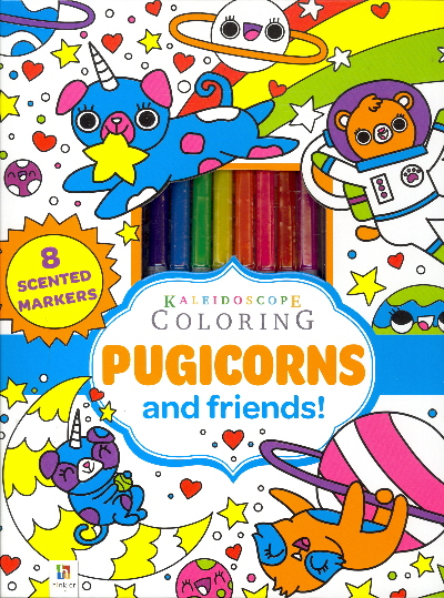 Pugicorns and Friends! (Kaleidoscope Coloring)