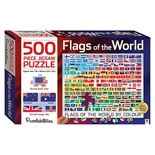 Flags of the World: 500 Piece Jigsaw Puzzle (Puzzlebilities)