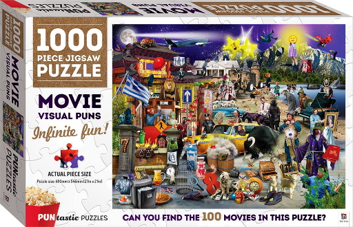 Movie Visual Puns: 1000 Piece Jigsaw Puzzle (Puntastic Puzzles)