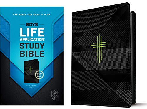 NLT Boys Life Application Study Bible (Neon & Black Edition)
