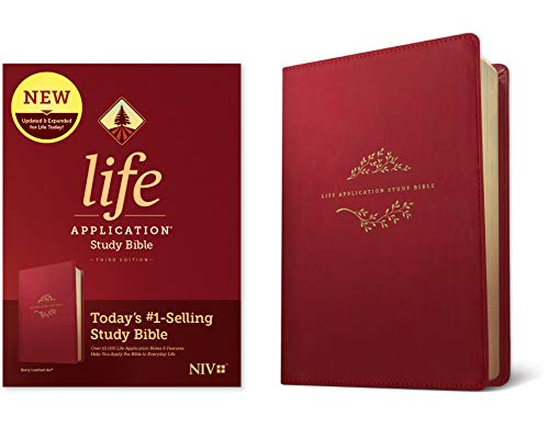 NIV Life Application Study Bible (Third Edition, Berry Imitation Leather)