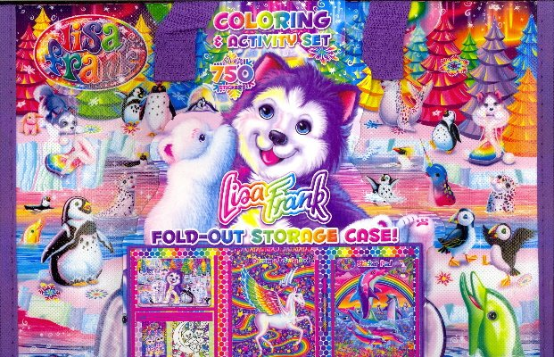 Lisa Frank Coloring & Activity Set With Fold Out Storage Case -  BookOutlet.ca