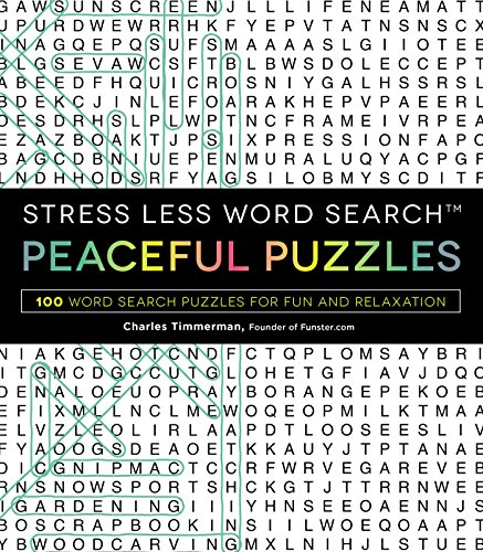 Peaceful Puzzles: Stress Less Word Search