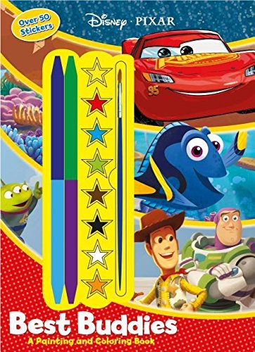 Disney/Pixar Best Buddies: A Painting and Coloring Book With Stickers