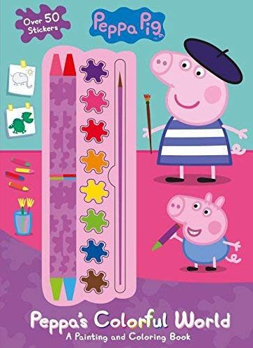Peppa's Colorful World Painting and Coloring Book (Peppa Pig)