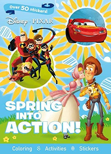 Spring Into Action! Coloring & Activity Book (Disney Pixar)