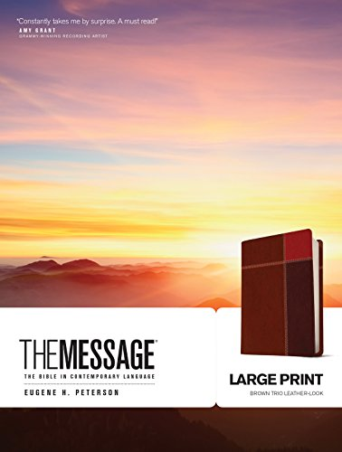 The Message Large Print Bible (Brown Trio Imitation Leather)
