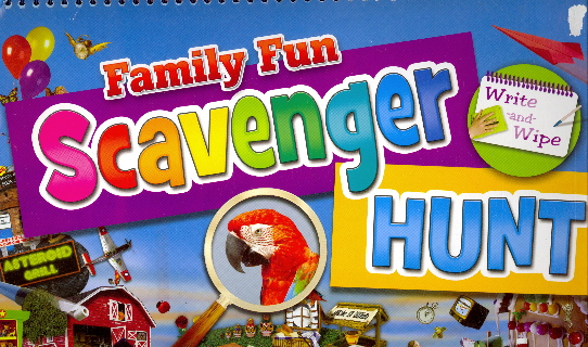 Family Fun Scavenger Hunt (Write-and-Wipe with Pen)
