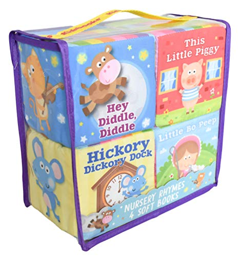 Nursery Rhymes: 4 Soft Books (Hey Diddle, Diddle/Little Bo Peep/This Little Piggy/Hickory Dickory Dock)