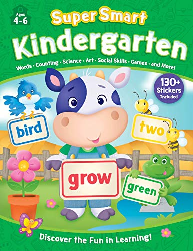 Kindergarten Workbook with Stickers (Super Smart, Ages 4-6)