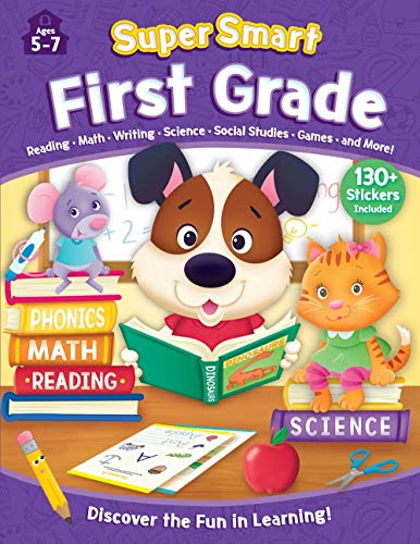 First Grade Workbook with Stickers: Ages 5-7 (Super Smart)