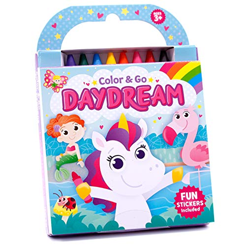 Daydream Coloring Book with Crayons (Color & Go)
