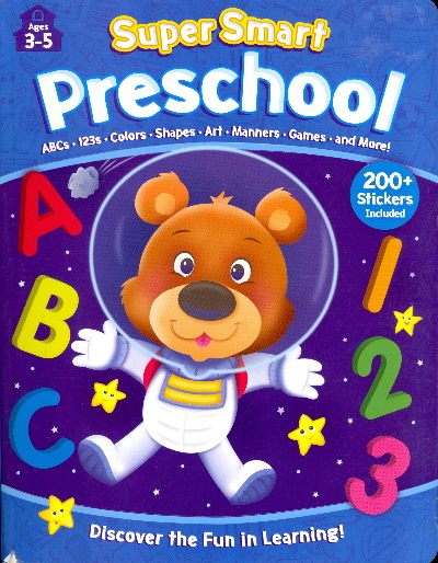 Preschool Workbook with Stickers (Super Smart: Ages 3-5)