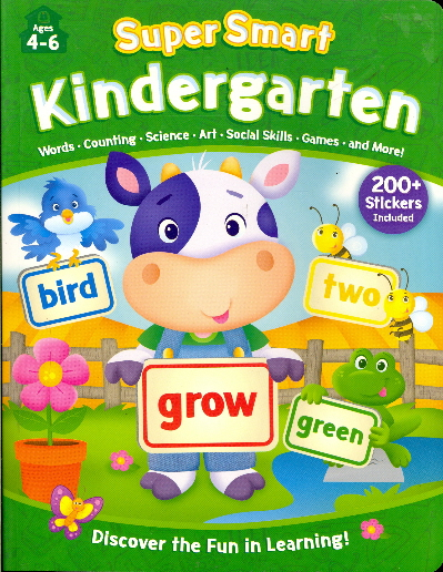 Kindergarten Workbook with Stickers (Super Smart: Ages 4-6)