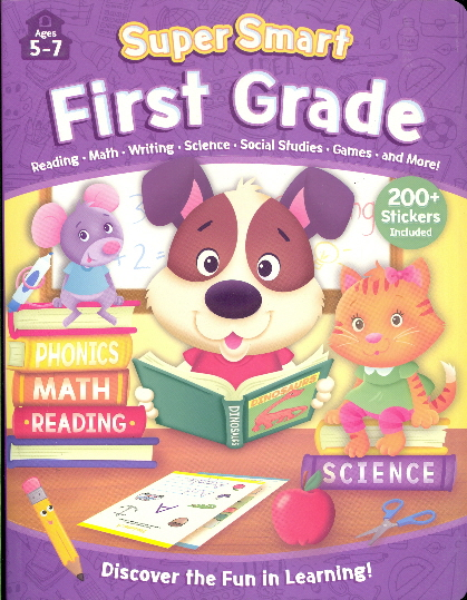 First Grade Workbook with Stickers (Super Smart Ages 5-7)