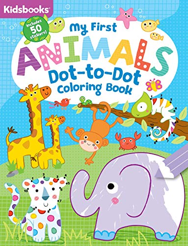 My First Animals Dot-to-Dot Coloring Book