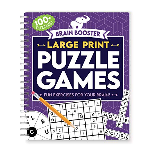 Large Print Puzzle Games (Brain Booster)