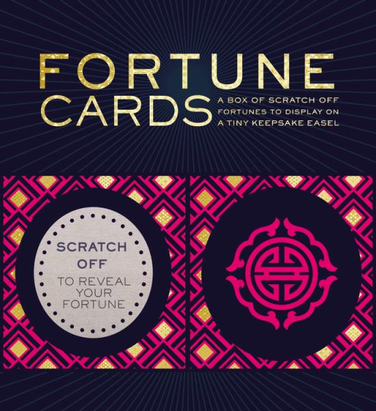 Fortune Cards: A Box of Scratch-Off Fortunes to Display on a Tiny Keepsake Easel