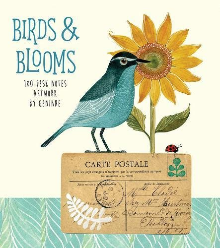 Birds & Blooms: 180 Desk Notes with Artwork by Geninne
