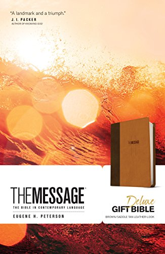 The Message Deluxe Gift Bible (Brown/Saddle Tan Imitation Leather)