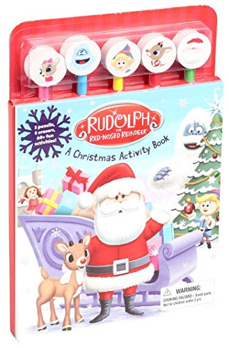 Rudolph the Red-Nosed Reindeer Christmas Activity Book with Pencil Toppers