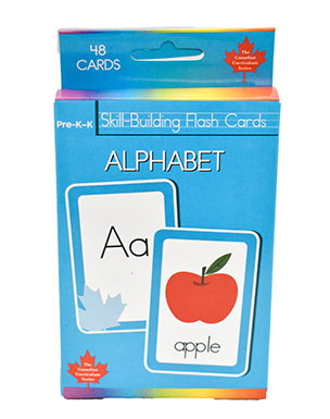 Alphabet: 48 Skill-Building Flash Cards ( Canadian Curriculum Series)
