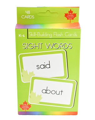 Sight Words Skill Building Flash Cards (Grade K-1, Canadian Curriculum Seires)