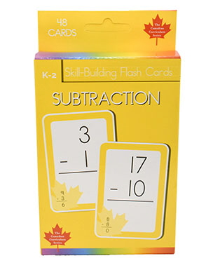 Subtraction Skill Building Flash Cards (Grade K-2, Canadian Curriculum Series)