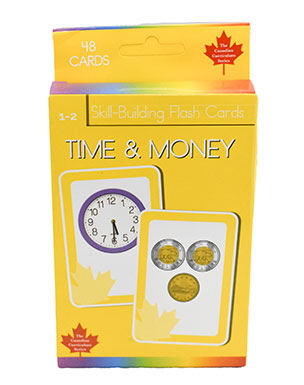 Time & Money Skill Building Flash Cards (Grade 1-2, Canadian Curriculum Series)