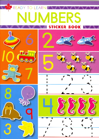 Numbers Sticker Book (Ready to Learn, Canadian Curriculum Series)