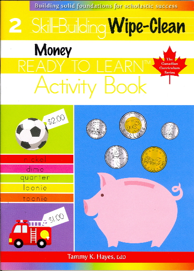 Money, Wipe-Clean, Skill Building, Activity Book (Ready to Learn, Canadian Curriculum Series, Grade 2)
