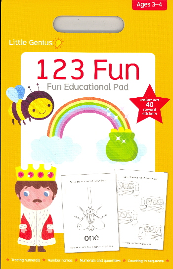 123 Fun Educational Pad (Little Genius, Ages 3-4)