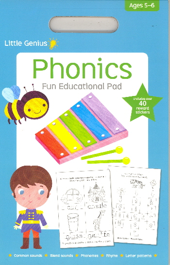 Phonics Fun Educational Pad (Little Genius, Ages 5-6)