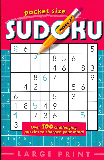 Pocket Size Sudoku: Volume 27 (Large Print)