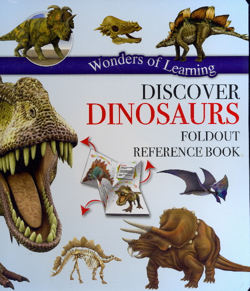 Discover Dinosaurs Foldout Reference Book (Wonders of Learning)