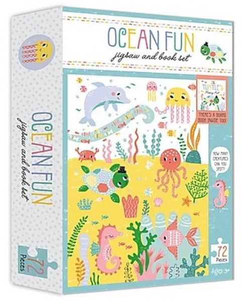 Ocean Fun Jigsaw and Book Set