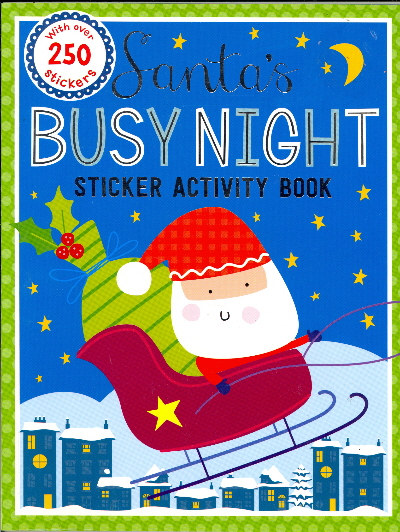 Santa's Busy Night Sticker Activity Book