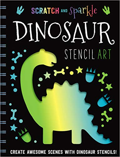 Dinosaur Stencil Art (Scratch and Sparkle)