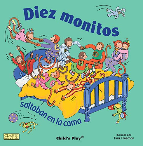 Diez Monitos Saltaban En La Cama (Classic Books with Holes)