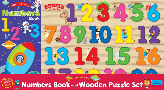 Numbers Book and Wooden Puzzle Set (Love to Learn)