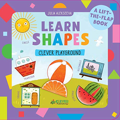 Learn Shapes: A Lift-the-Flap Book (Clever Playground)