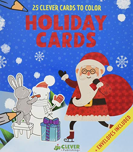 Holiday Cards: 25 Clever Cards to Color + Envelopes Included