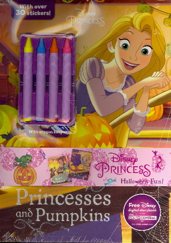 Disney Princess Halloween Fun! 2-Pack Color and Activity Books with 4 Crayons